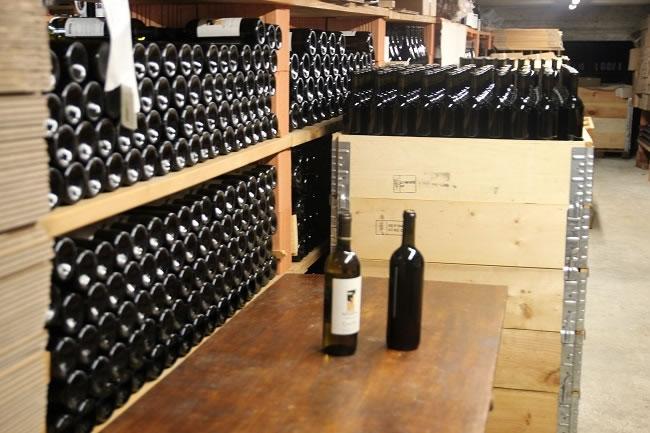 Inside the cellar Ca de Noci