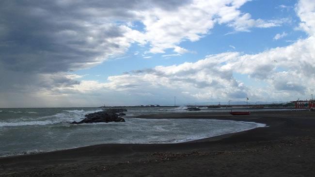 This wild west coast beach side scene
