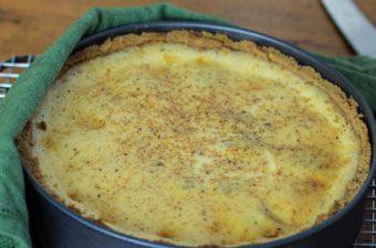 Date Custard Tart just baked