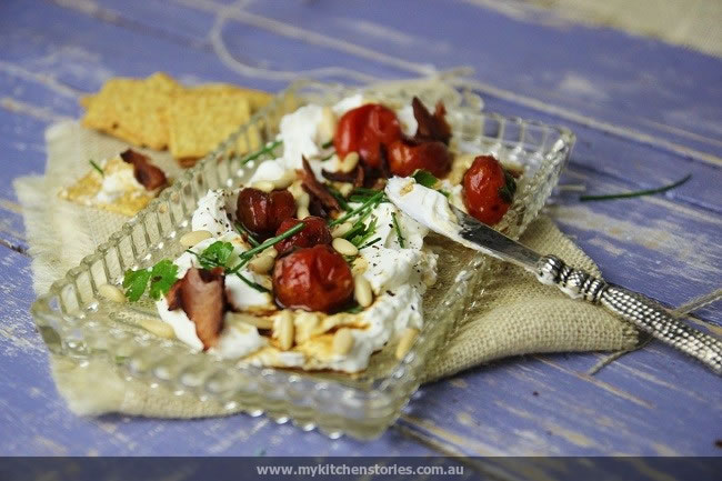 Goat Labneh with Roast Tomatoes