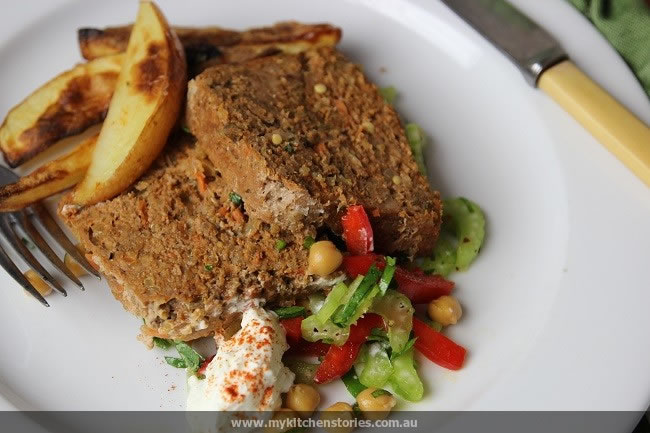 Lamb Meatloaf with potatoes