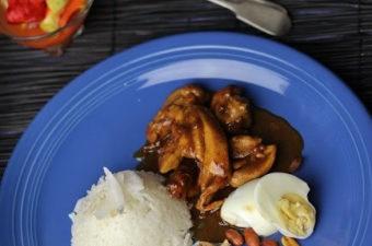 Nasi Lemak with curry