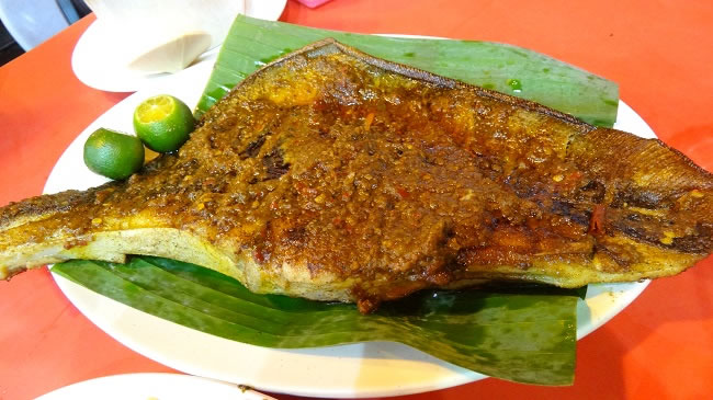 """Portugese"" spiced Stingray- Skate.Spicy and crispy from the grill"