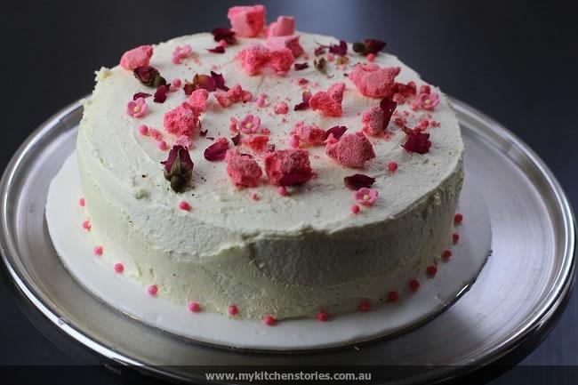 Red Velvet with Strawberry meringue