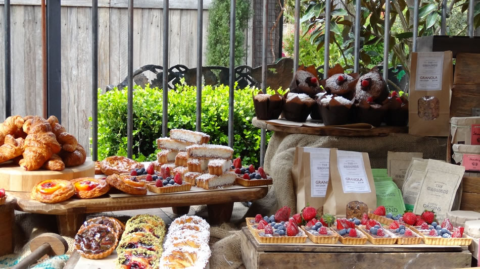 Pastries outside