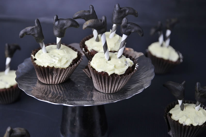 Chocolate Halloween Cupcakes Witches cupcakes