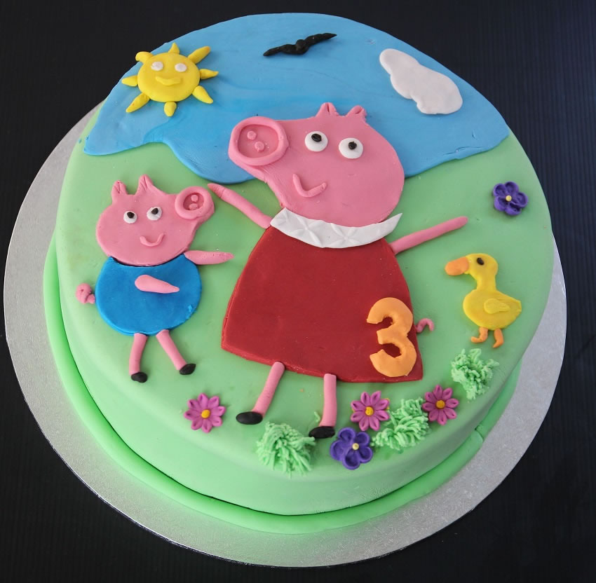 How To Make A Peppa Pig Cake My Kitchen Stories