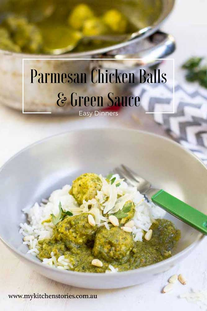 Parmesan chicken Balls & Green sauce