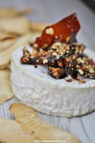 Brillat Savarin with hazelnut