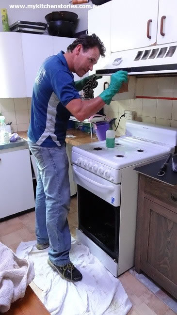 Love a man with gloves and Dwayne cleans every bit