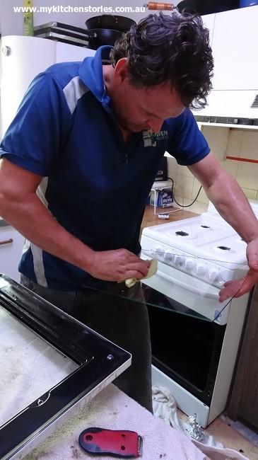 Scrubbing the glass