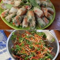 Vietnamese Rolls with peanuts