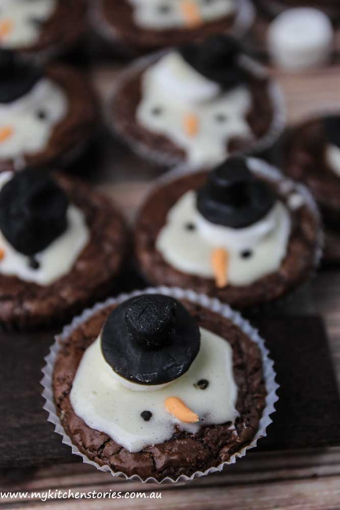 MSnSnowman brownies for Chritmas