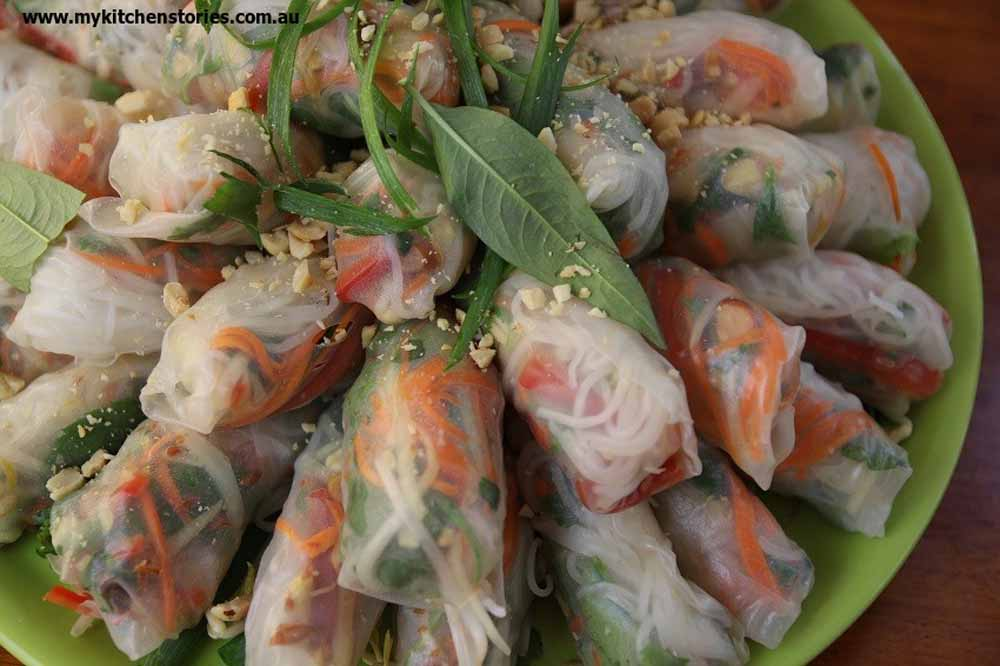 Vietnamese Rice Paper Rolls on show
