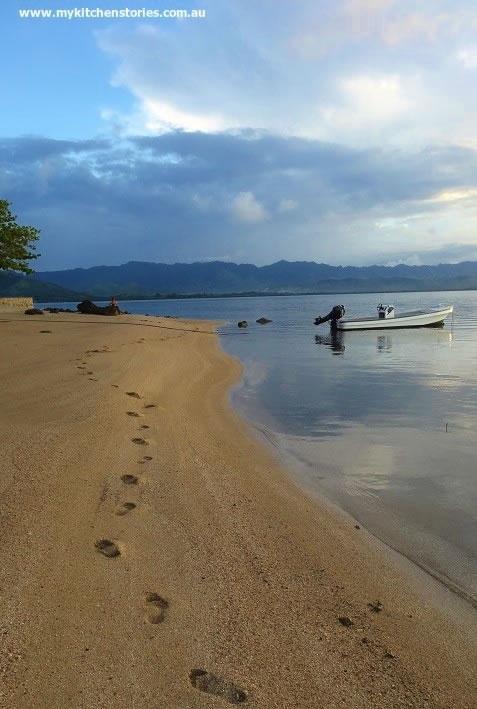 Footprints in Fiji