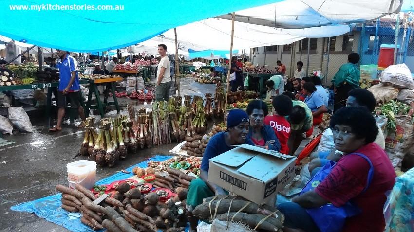 Cooking in Suva, wet markets