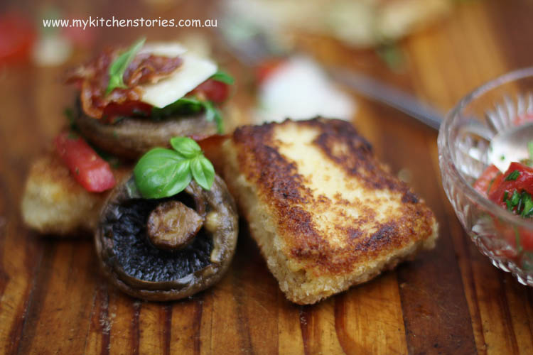 polenta and Mushroom