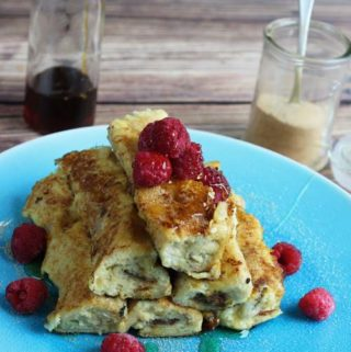 French Toast Rolls with chocolate and berries