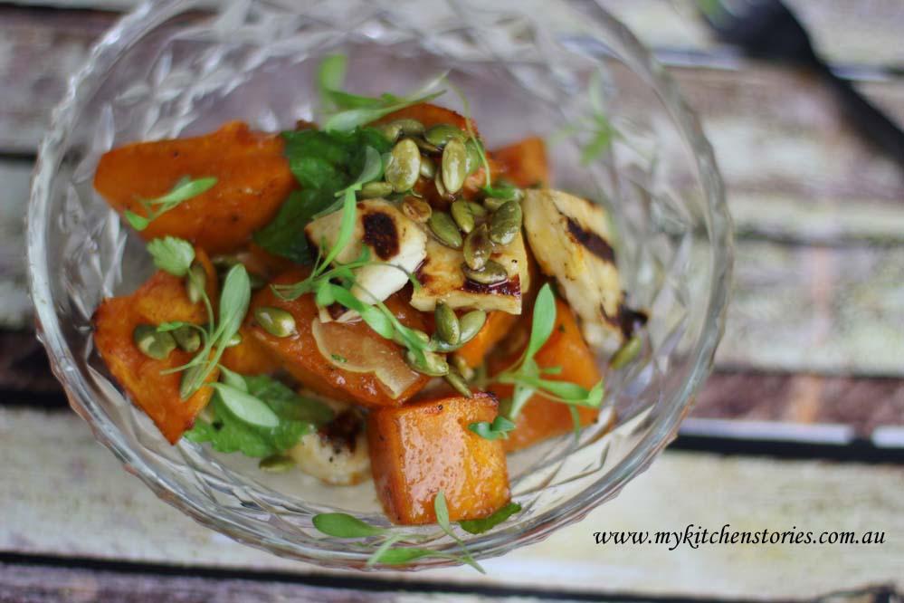 Pumpkin Haloumi Salad