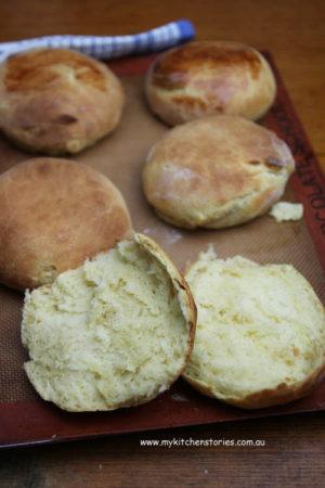 No knead Brioche Bread rolls