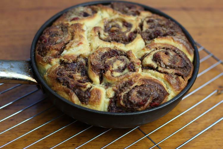 No Knead Brioche Bread made into date rolls
