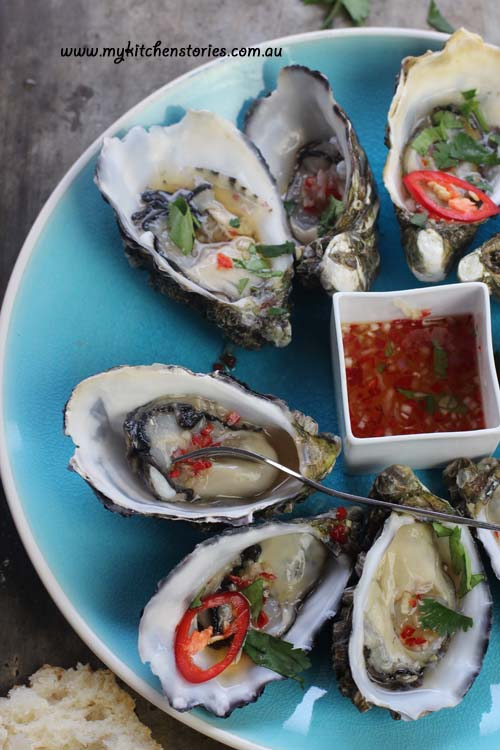 Oysters Spicy maple Dressing with Sydney Rock oysters