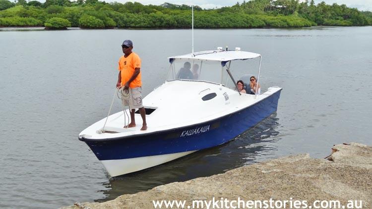 Leleuvia ferry boat