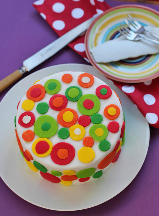 Rainbow Cake decorated with fondant
