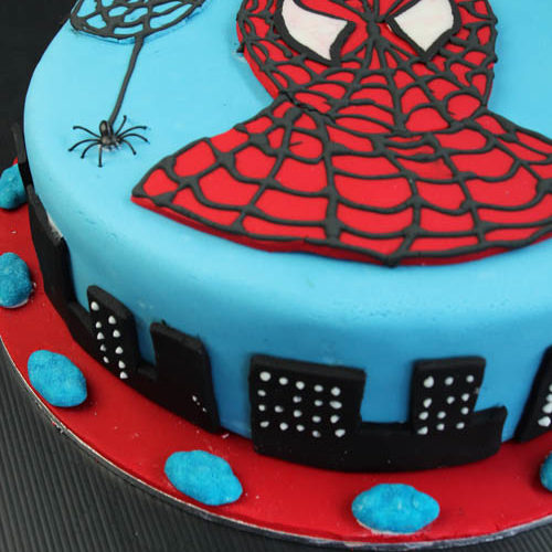 Brilliant How To Decorate A Spiderman Cake My Kitchen Stories Funny Birthday Cards Online Inifofree Goldxyz