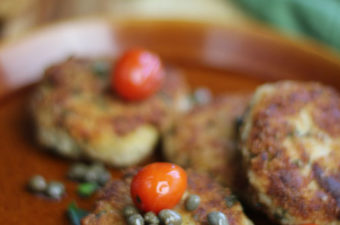 Tuna Cakes with tiny capers
