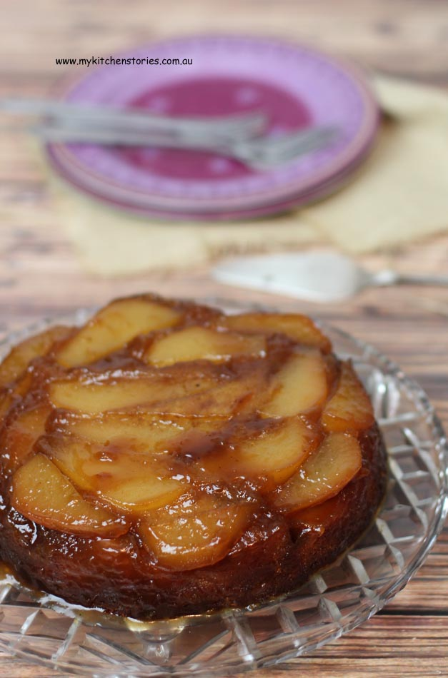 Caramel and Beer Cake with Pears