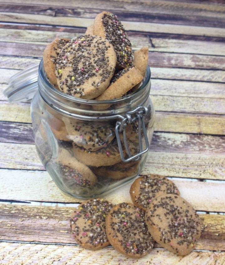 Chia seed shortbread cookies