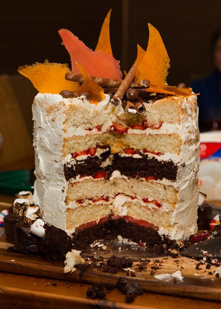 Bonfire cake cut - Copy