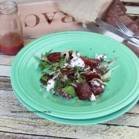 Chilli peperilli salad with Fennel salad