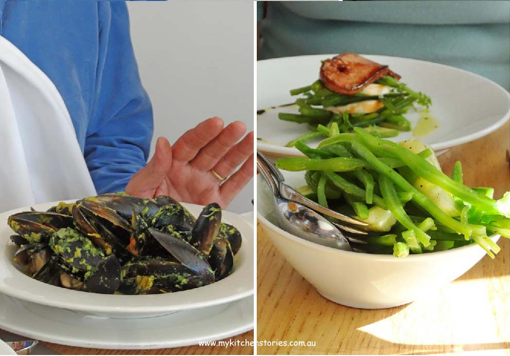 Mussels and vegatables at Rick Stein