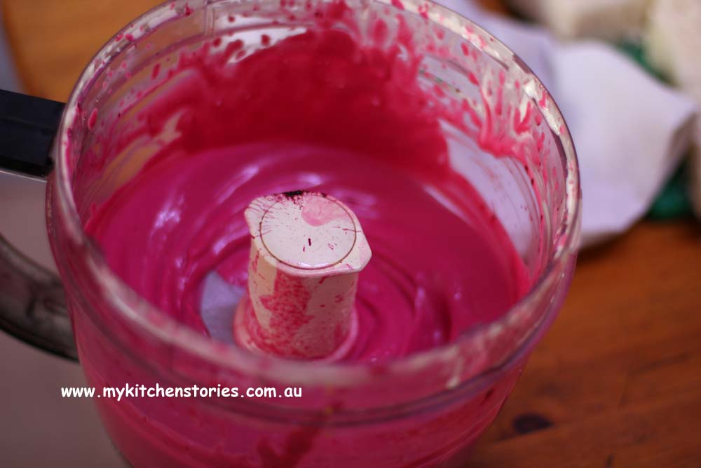 Beetroot mayonnaise for Salmon Sushi Toasts, My Kitchen Stories