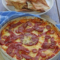 Irresistible Pizza Dip ready