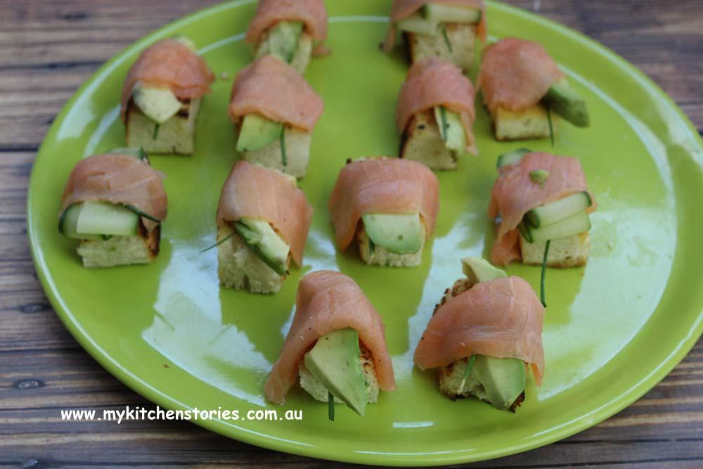 Smoked Salmon bites with beetroot mayo, My Kitchen Stories