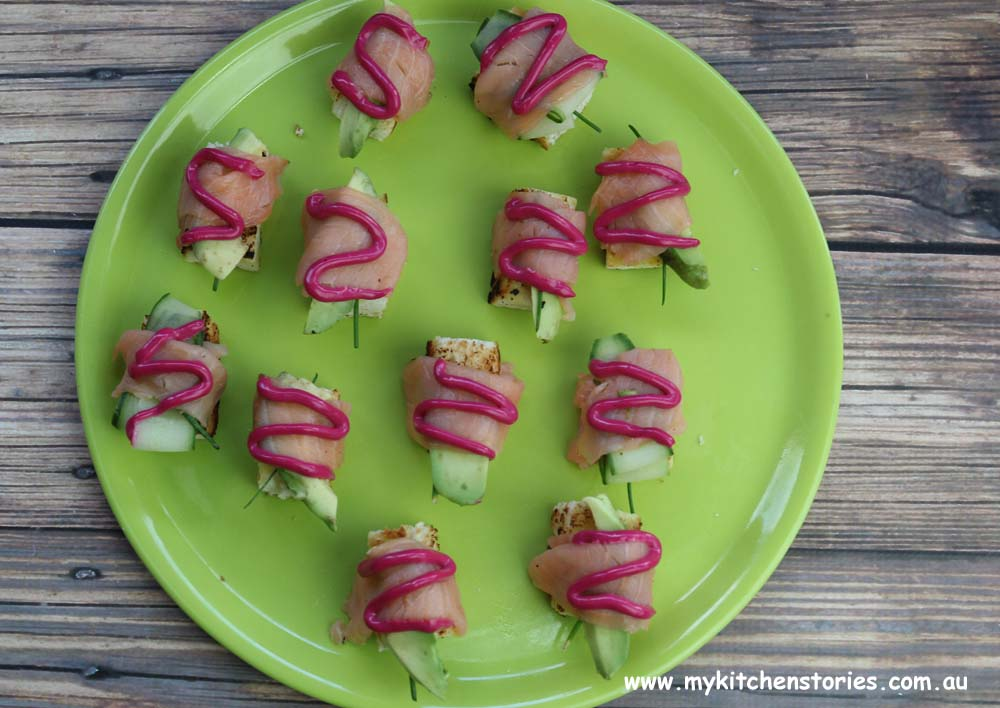 Smoked Salmon toast sushi bites, My Kitchen Stories