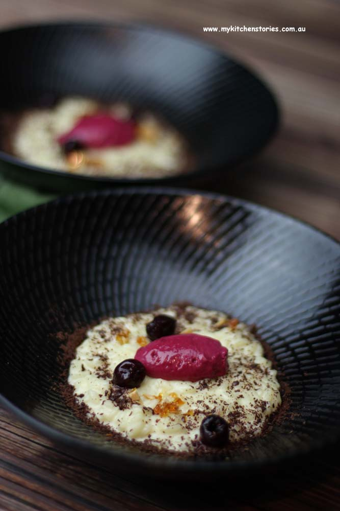 Vanilla Risotto with cherries