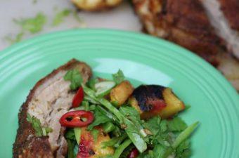 Crisp Pork Belly with salad