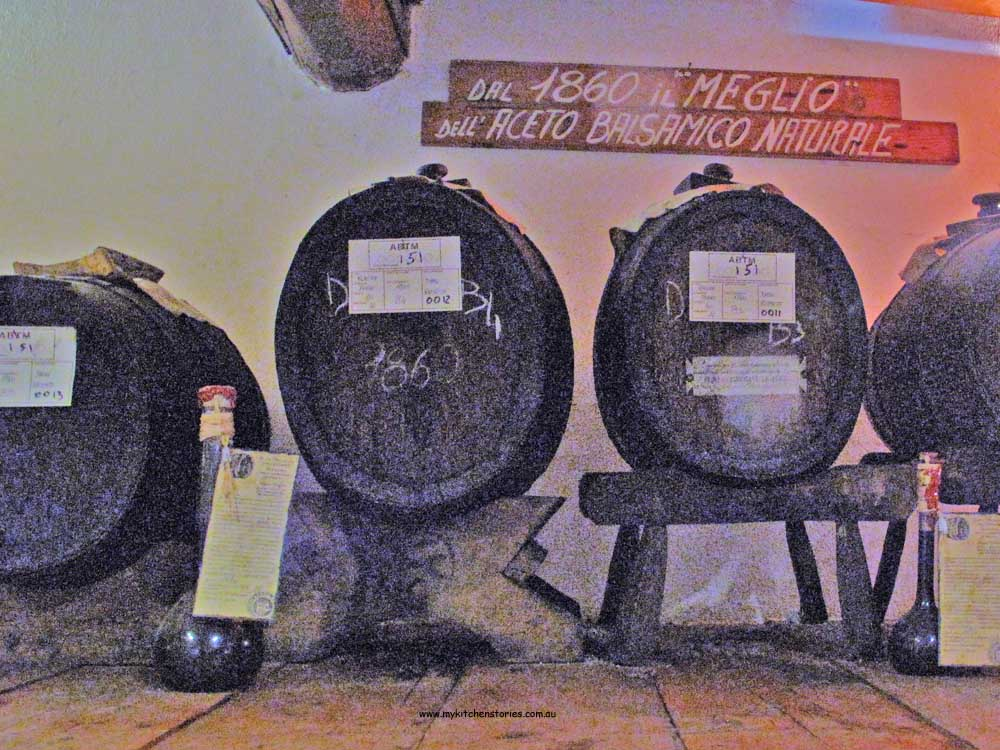 Old barrels in Modena