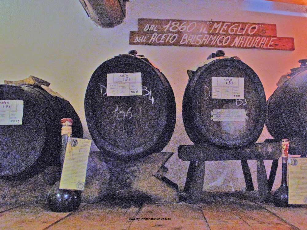 Old barrels in Modena