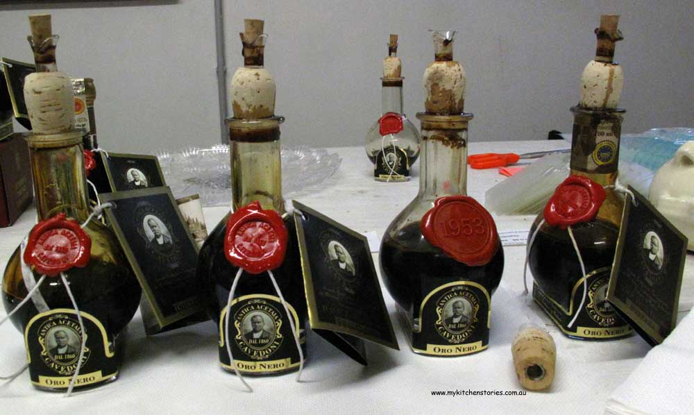 Traditional balsamics in Modena