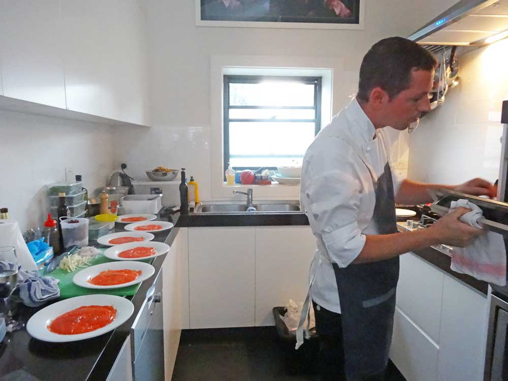 Marcello cooking