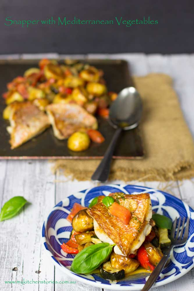Snapper- meditaerranean -Vegetables-My-Kitchen-Stories