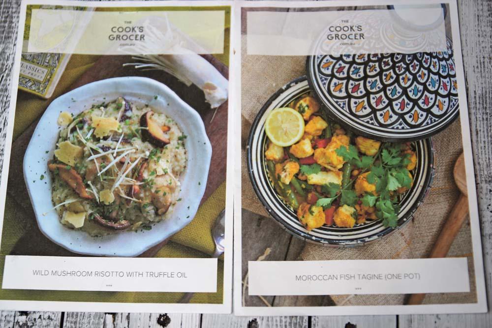 Cook's Grocer menus