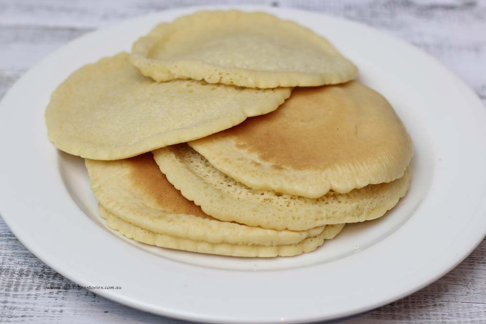Atayef Pancakes on a plate