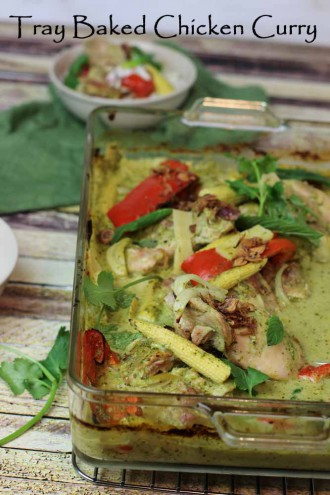 Tray Baked Green Curry