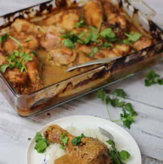 Tray baked Chicken Satay